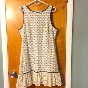 J. Taylor lace overlay ruffled hem summer dress
